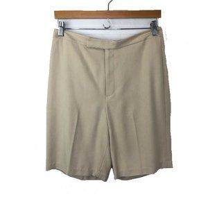 Banana Republic Silk Chino Dress Shorts Beige
